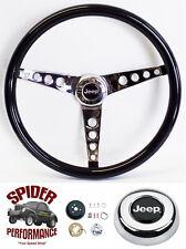 """1976-1995 Jeep steering wheel 15"""" GLOSSY GRIP"""
