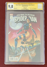 Marvel Spectacular Spider-Man #2 CGC 9.8 JIM LEE Variant Cover  Psylocke Signed