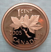 2005 CANADA 1 CENT PROOF PENNY COIN