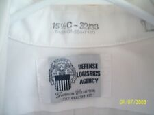 DLA Mens 15 1/2C - 32/33  White Dress Shirt 8405-01-554-7130