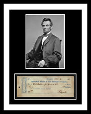 ABRAHAM LINCOLN *SIGNED BANK CHECK* AUTO PHOTO PRINT DISPLAY *READY 2 FRAME* ABE