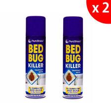 2 x BED BUG KILLER TREATMENT SPRAY BUG KILLER MATTRESS CARPET BED FRAME SAFE