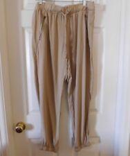 New! $129 Sanctuary Tan Tencel Zip Pocket Joggers...L