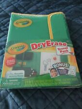 Crayola Dry Erase Travel Pack Includes Case, Activity Sheets More-Free Ship New