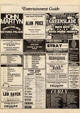 John Martyn Brown's Home Brew Victoria Palace, London MM5 show Advert 1975