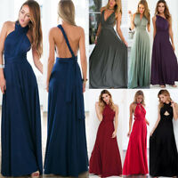 Womens Evening Maxi Dress Convertible Multi Way Wrap Bridesmaid Cocktail Party