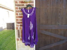 INDIA BOUTIQUE Dress Women Free Size One Size  Purple COVERUP-SHIFT-DRESS