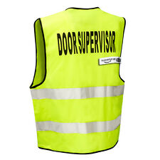 DOOR SUPERVISOR High Viz Visibility Safety Vest (Zip Front) THE-SECURITY-STORE