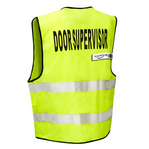 THE-SECURITY-STORE High Visibility DOOR SUPERVISOR Safety Vest