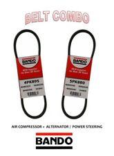 SUBARU 2.5L BANDO OEM 2 Pcs Serpentine Belts Kit  Alt-AC-Pwr   4PK895 - 5PK880