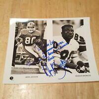 Mark Jackson Hand Signed Autographed 8×10 Photo Denver Broncos See Description