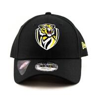 Richmond Tigers New Era Cap AFL 9Forty Curved Brim Hat In Black Gym