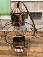 Vintage Original Ships Copper Onion Style Ships Light  Maritime Marine Nautical