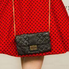 ALDO black pvc quilted clutch bag shoulder bag