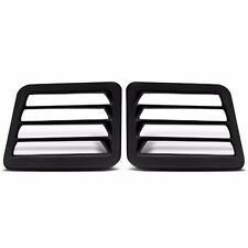 ABS Rear Van Louvers Dodge Full Size Van / Ram Van 1978-2005 - Solid Glass