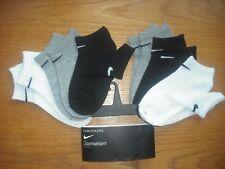 Toddler Boys Nwt Nike Socks No-Show 6prs Black White Gray Cushioned Sz:4T-5T