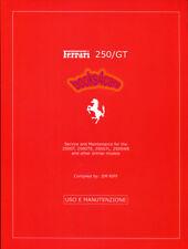 FERRARI 250 SERVICE MAINTENANCE MANUAL BOOK FOR REPAIR SHOP 250GT V12 RIFF JIM
