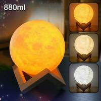 3D Moon Lamp Air Humidifier Diffuser Aroma Essential Oil USB Home-Purifier Light