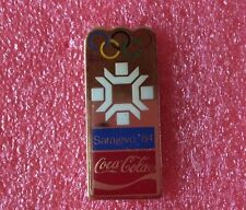 Pins COCA COLA Coke Affiche J.O. SARAJEVO 1984 Jeux Olympique Olympia Games