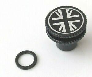 Brompton - Aceoffix Black Union Jack M6 Alloy 2g Nut for Rear Shock / Seat Post