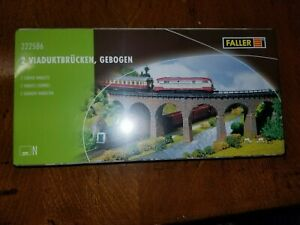 """Faller 222586 Curved viaduct x 7-1/2""""1 N Scale"""