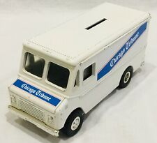 Ertl Chicago Tribune Newspaper Step Van Delivery Truck White Bank Die Cast Euc