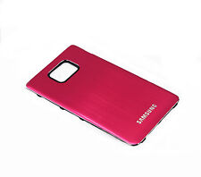 Metall Akkudeckel Battery Cover Case für Samsung Galaxy S2 II i9100  (Magenta)
