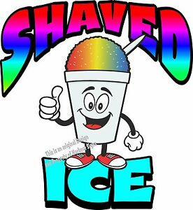 """Shaved Ice Vinyl Decal 24"""" Shave Concession Ice Cream Food Truck Cart"""
