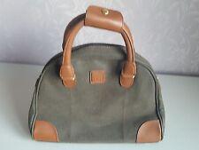 Tripp Shoulder Bag Cabin Handbag Travel Brown and Khaki Faux Leather VGC