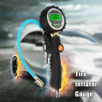 Car Truck Auto Digital LCD Tire Air Pressure Gauge Meter Inflator Tool    J W