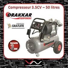 Compresseur d'air 50 litres moteur 3,5 CV tête en V Ideal sableuse / sablage