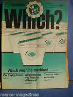 VINTAGE WHICH CONSUMER MAGAZINE OCTOBER 1977 INCLUDING MOTORING WHICH AMPLIFIERS