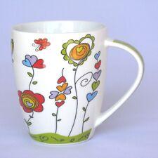 Becher mit Herzen - grün - Tasse - Becher mit Henkel - Kaffeebecher - NEU