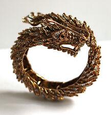 Bracciali di bigiotteria rigido in oro in cristallo
