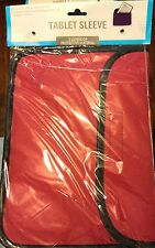 Red 2 Layer Protector Soft Cover Tablet iPad Kindle Sleeve Case Protect NIB B38