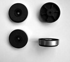 Bajo perfil 40mm Plata Pies X 4 para gabinete de amplificador de alta fidelidad