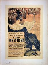 Eugène Grasset: L' Age Of Romanticism - Lithography Original, Signed, 1897