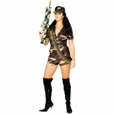 Army Girl Soldier Camo Adult Womens Smiffys Fancy Dress Costume - UK 12-14