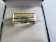 LARGE, FULLY HALLMARKED YELLOW & WHITE 9ct GOLD DIAMOND RING UK SIZE T1/2  3.8g