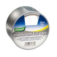 ALUMINIUM FOIL ULTRA TAPE SELF ADHESIVE 50MM X 10M HEAT DUCT PIPE REPAIR DIY F&F