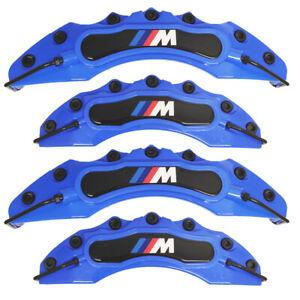 4x Blue BMW M Brake Caliper Cover Front Rear Power Rim Wheel Set Car Series