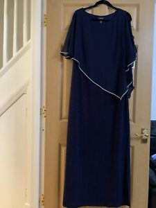 Brand New R & M Richards Elegant Dress Navy Size 14