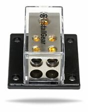 InstallGear 1/0 AWG Gauge In to (4) 4/8 Gauge Out Power Distribution Block