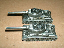 Two 1/140 Scale Battle Tank Models Heavy Metal Modern Warfare Artillery Weapon