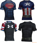 Men's UNDER ARMOUR Alter Ego Suit Compression Shirt DC Marvel Short Sleeve M-2XL