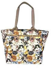 LeSportsac Cat Cafe Bene Traveling EveryGirl Tote Ship Carry-on NWT Free Ship