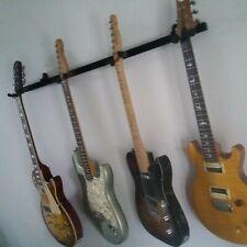 1- 4 Multi Guitar Adjustable Wall Mount Hanger Stand Rack Hook Holder