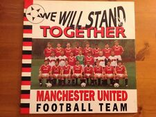 """MANCHESTER UNITED football Team 12"""" Vinyl Single We Will Stand TOGETHER 1990"""
