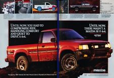1987 Mazda B2600 4x4 Truck Original 2-page Advertisement Print Art Car Ad K33