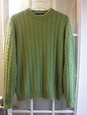 "Allen Solly 100% 2 Ply Cashmere Green Cashmere Crewneck Sweater Women L ""EX"""